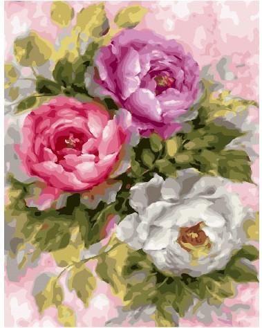 Картина по номерам Пионовые розы 40 х 50 см (BK-GX25869)