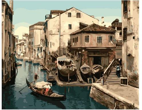 Картина по номерам Канал Венеции 40 х 50 см (BRM21169)