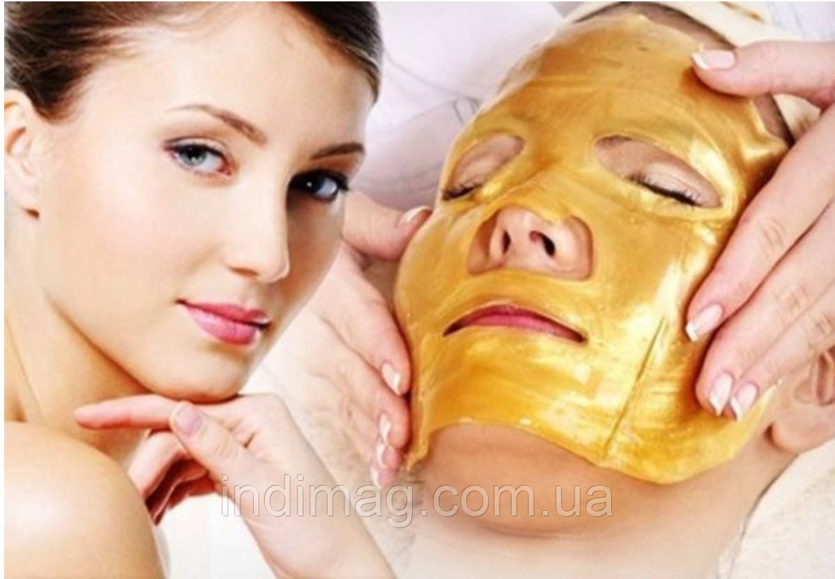 Коллагеновая маска-патч для лица Collagen Crystal Facial Mask (золотая)