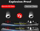 Защитное стекло дважды закаленное 9D для Xiaomi Redmi Note 6 PRO (Полное покрытие и полный клей), фото 9