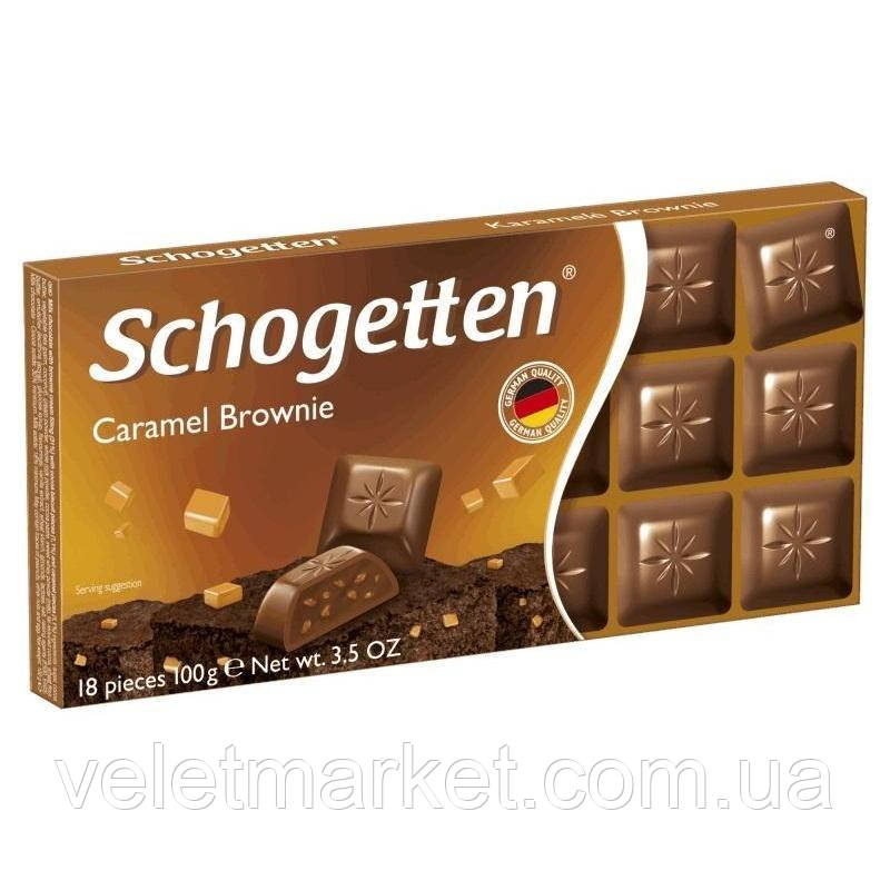 Шоколад Schogetten молочный Карамель Брауни 100 г