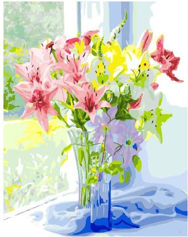 Картина по номерам Весенний букет лилий 40 х 50 см (BRM25826)