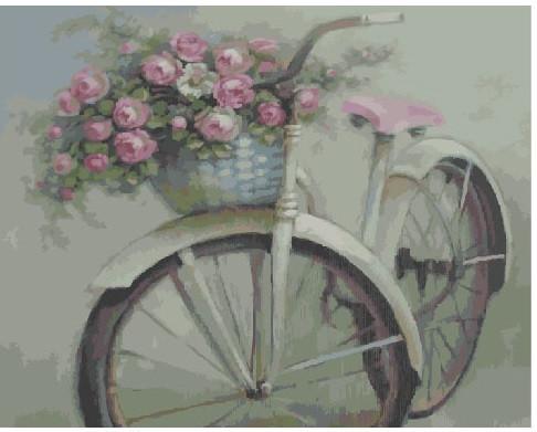 Картина по номерам Велосипед и цветы 40 х 50 см (BRM4916)