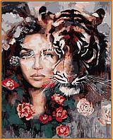Картина по номерам Глаза тигра (в раме) 40 х 50 см (NB966R)