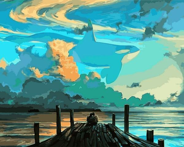 Картина по номерам Мечты на берегу океана 40 х 50 см (VP1080)