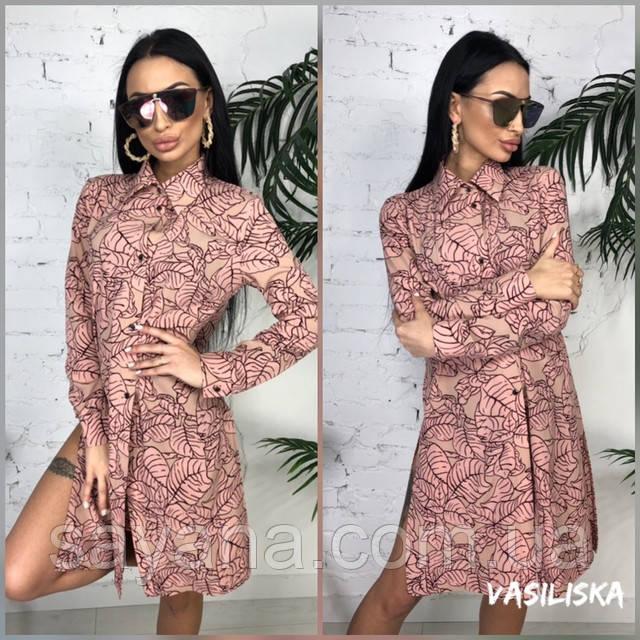 женское молодежное платье рубашка оптом