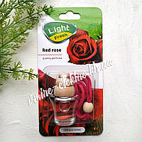 Ароматизатор в машину (красная роза) Light Fresh Red rose