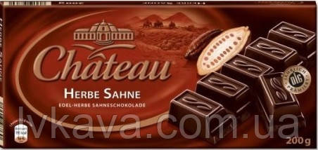 Черный шоколад  Chateau Herbe Sahne , 200 гр