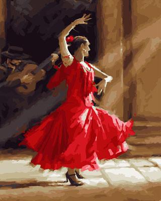 Картина по номерам Фламенко 40 х 50 см (BK-GX23652)