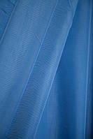 Шифон однотонный Насыщенный голубой № А24