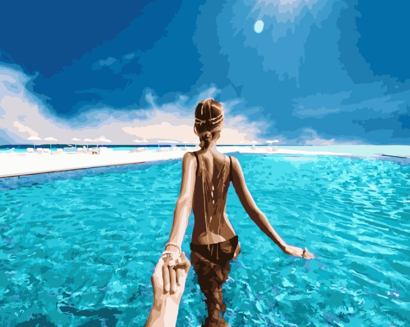 Картина по номерам Следуй за мной Карибские острова 40 х 50 см (BK-GX24451)