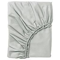 IKEA NATTJASMIN Простыня с резинкой, светло-серый  (603.374.38)