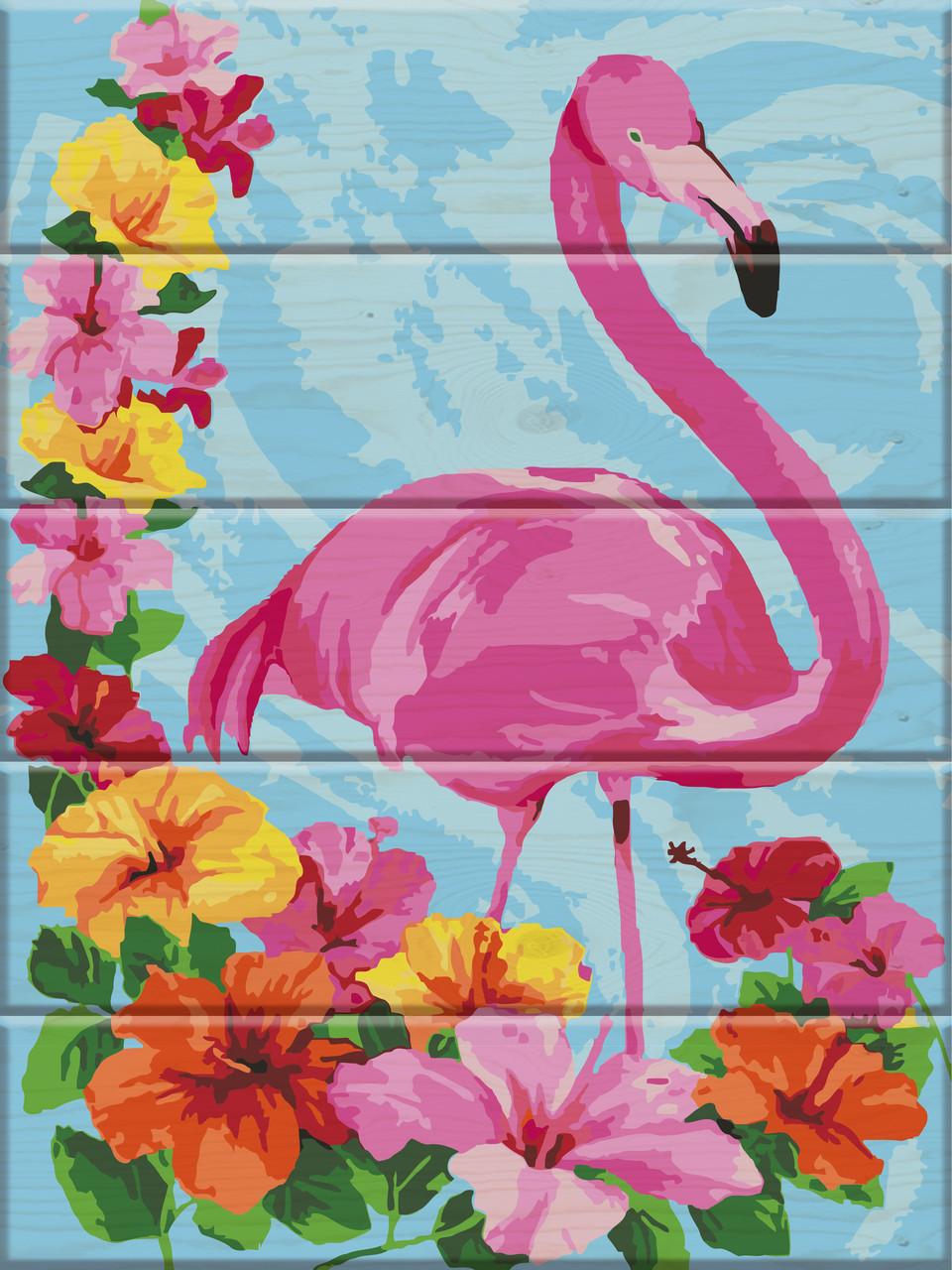 Картина по номерам Фламинго 30 х 40 см (ASW014)