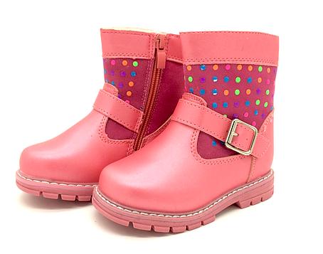 Ботинки осень-зима для девочек розовые Clibee Размеры: 22, 23, 24, фото 2