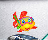 Термопринты на одежду Рыбка [Свой размер и материалы в ассортименте]