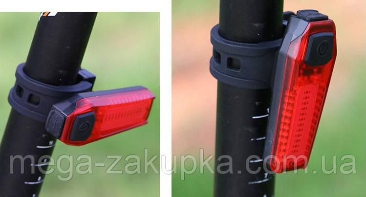 Вело стоп-задний фонарь ZH-1608