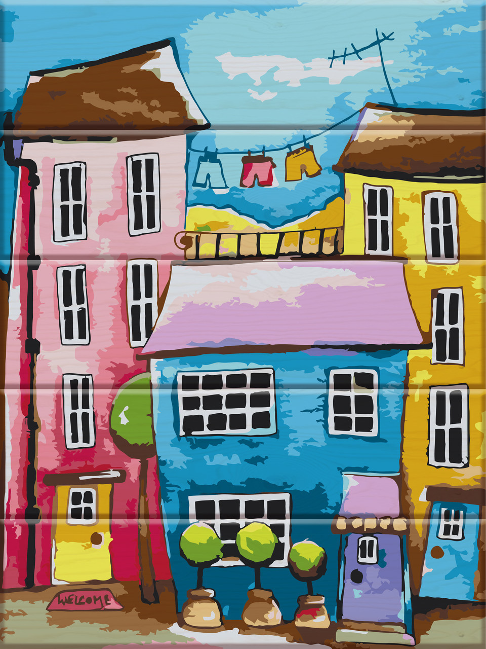 Картина по номерам Цветная улица 30 х 40 см (ASW024)