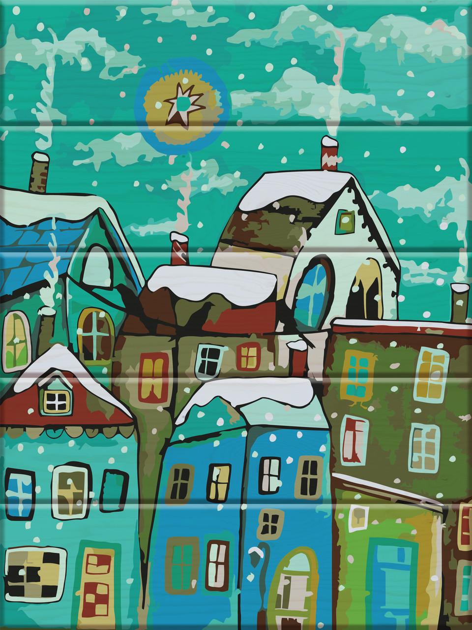 Картина за номерами Казкове місто 30 х 40 см (ASW025)