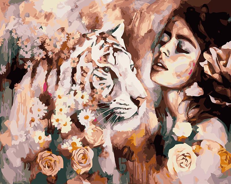 Картина по номерам Характер тигрицы 40 х 50 см (BK-GX21964)