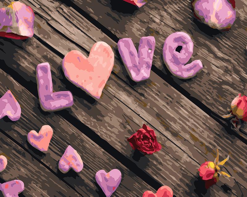 Картина по номерам Любовь 40 х 50 см (BK-GX23116)