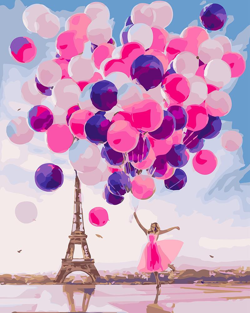 Картина по номерам Парижские шары 40 х 50 см (BK-GX24192)
