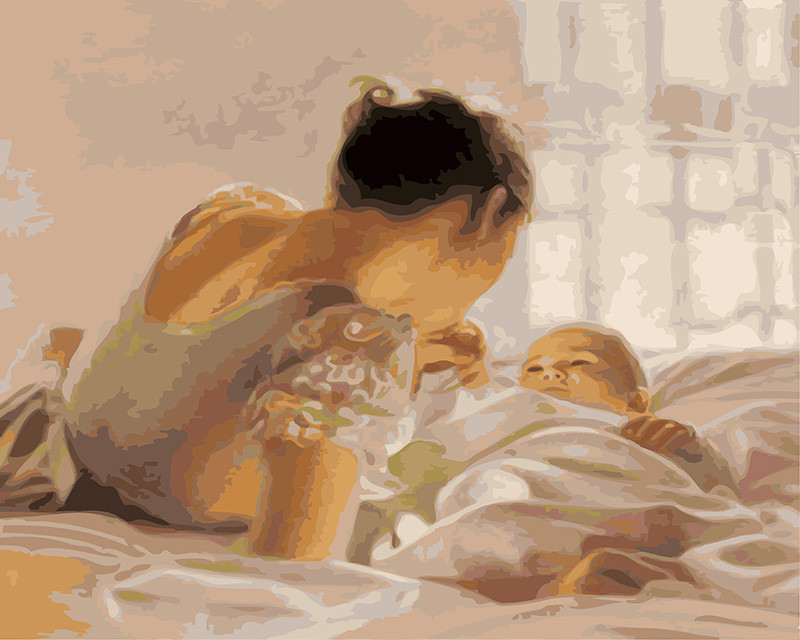 Картина по номерам Малыш и мама 40 х 50 см (BK-GX25114)