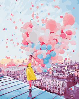 Картина по номерам Рассвет над крышами Парижа 40 х 50 см (BK-GX25364)