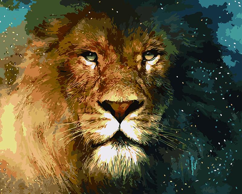 Картина по номерам Царь зверей 40 х 50 см (BK-GX5288)