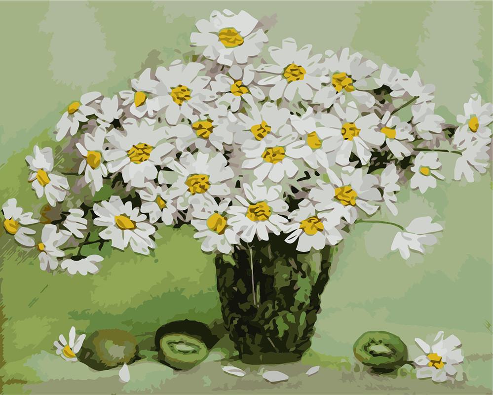 Картина по номерам Натюрморт с ромашками 40 х 50 см (BK-GX8035)