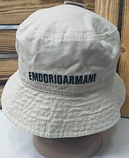 Котоновая панама с вышивкой Emporio Armani, размер 55-57, фото 3