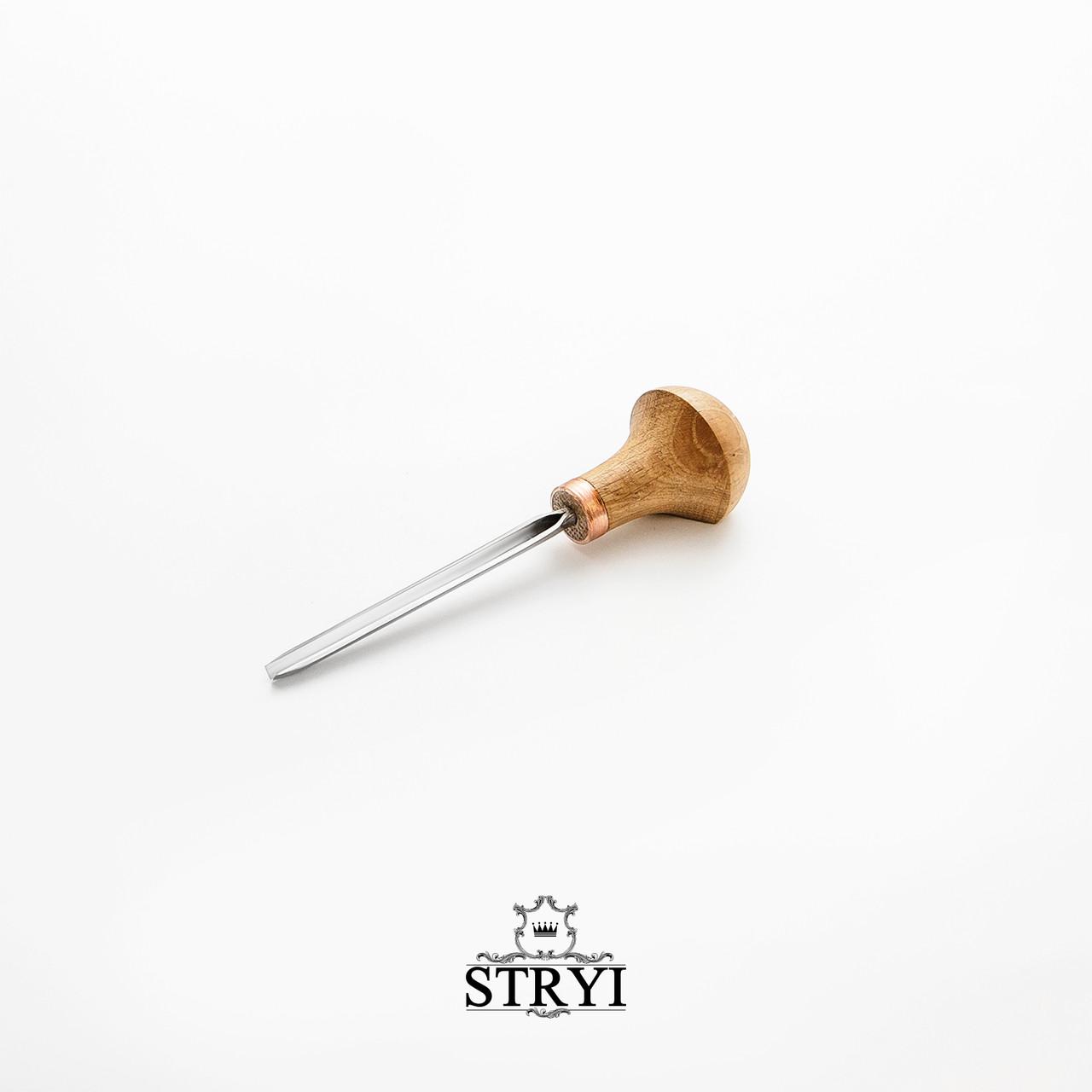 Штихель угловой 45 градусов 3мм для резьбы по дереву от производителя STRYI