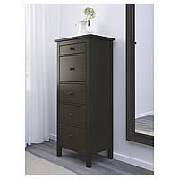 IKEA HEMNES Комод с 5 ящиками, черно-коричневый  (902.471.82)