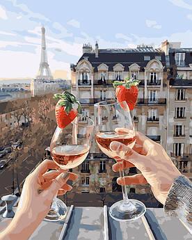Картина по номерам Шампанское и клубника 40 х 50 см (PGX24907)