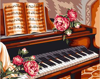 Картина по номерам Розы и пианино 40 х 50 см (BK-GX24082)