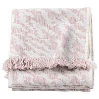 IKEA KAPASTER Плед, сливочный, розовый  (104.025.82)