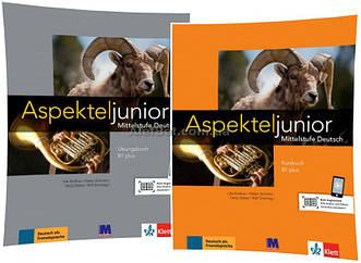 Немецкий язык / Аspekte junior / Kursbuch+Übungsbuch. Учебник+Тетрадь (комплект), B1+ / Klett