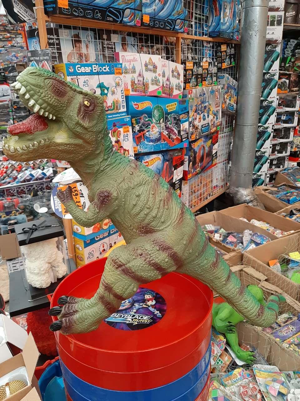 Динозавр музыкальный резиновый359-31