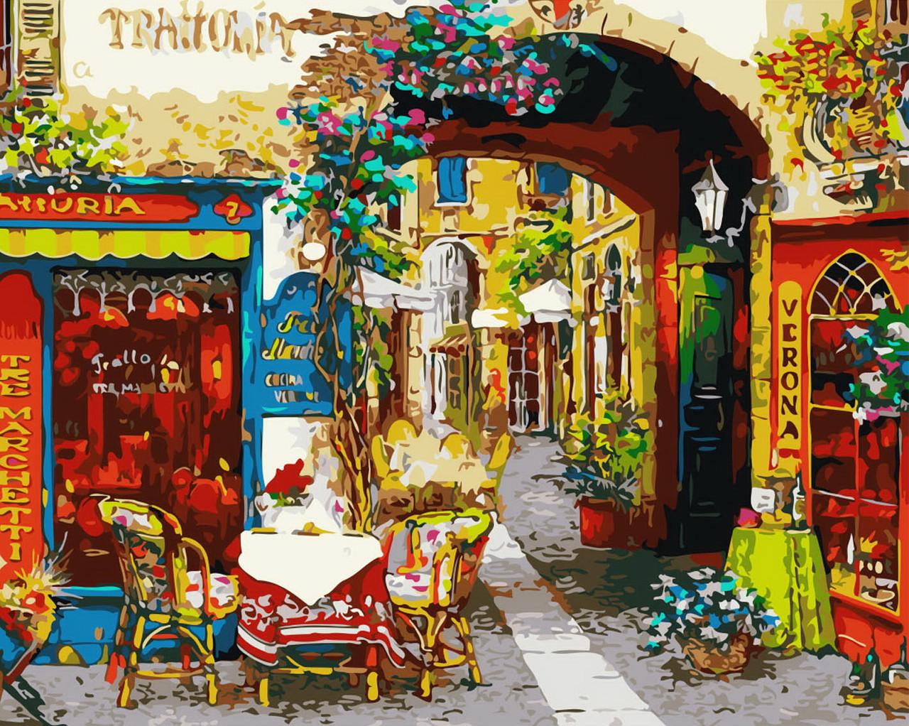 Картина за номерами Затишний ресторанчик 40 х 50 см (BRM7196)