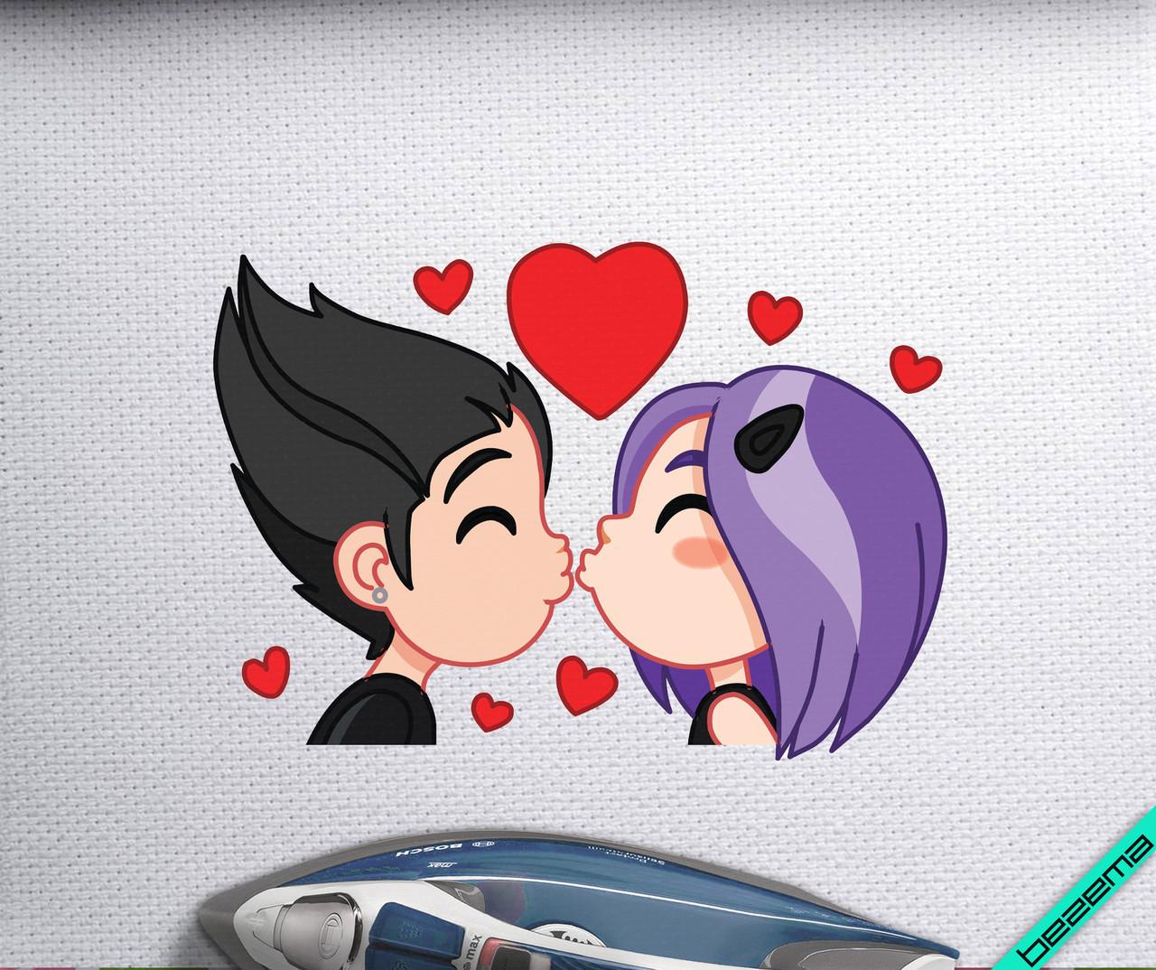 Аплпикации на двунитку Violet love [Свой размер и материалы в ассортименте]