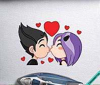 Аплпикации на двунитку Violet love [Свой размер и материалы в ассортименте], фото 1