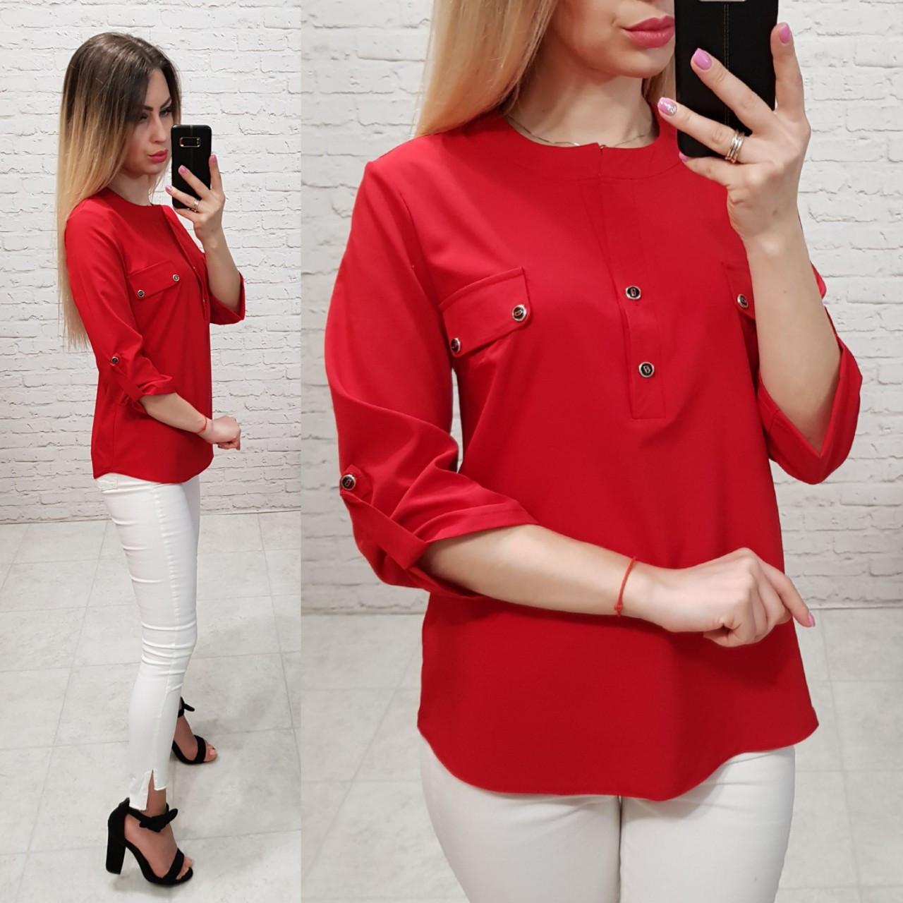 Блуза женская, софт, модель 829, цвет - красный