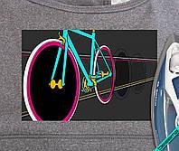 Термопечать на бейсболки Велосипед [Свой размер и материалы в ассортименте]