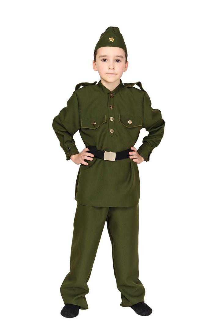 Карнавальный костюм военного, солдата для мальчика хаки