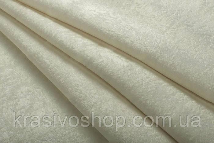 Ткань  блэкаут софт айвори
