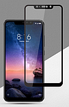 Защитное стекло дважды закаленное 9D для Xiaomi Redmi Note 6 PRO (Полное покрытие и полный клей), фото 3