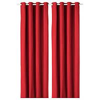 IKEA MERETE Гардины, 2 шт, красный  (603.211.02)