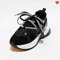 Женские кроссовки с двойными шнурками, фото 1