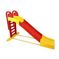 Горка большая 014550/3 Doloni Toys детская Желтая-красная 243 см