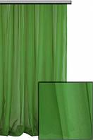 Шифон однотонный Зеленый № С19
