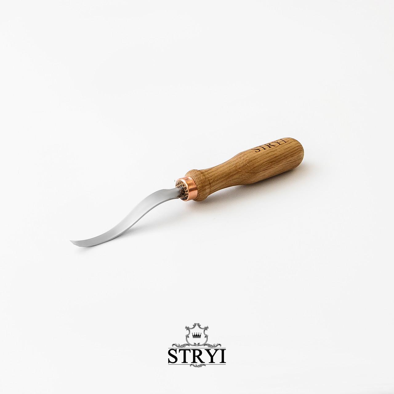 Стамеска клюкарза плоская 5 мм для резьбы по дереву, от производителя